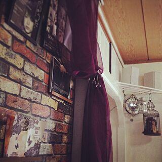 壁/天井/レンガ壁紙/100均/癒し/IKEA...などのインテリア実例 - 2013-06-23 19:47:07
