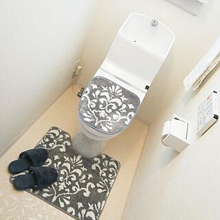 バス/トイレ/シンプルインテリア/しまむら×トイレ2点セット/オーナメント柄/グレー×白のインテリア実例 - 2020-02-27 15:17:37