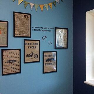 壁/天井/セリア/手作り/壁紙/DIY...などのインテリア実例 - 2014-03-31 16:20:45