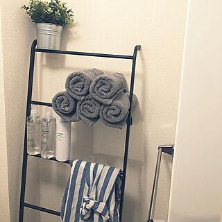 女性28歳の一人暮らし1K、トイレのディスプレイに関するixumiさんの実例写真