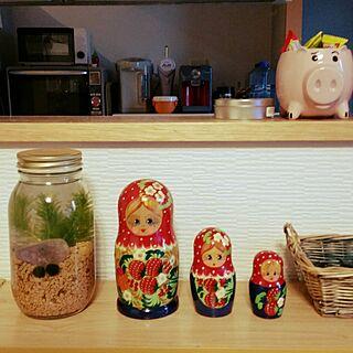女性家族暮らし、マトリョーシカ人形に関するhaginostukiさんの実例写真