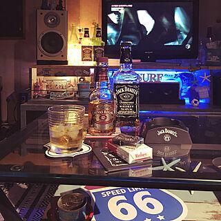 机/コースター/間接照明/晩酌/酒...などのインテリア実例 - 2018-04-29 22:39:14