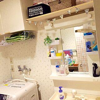 バス/トイレ/3COINS/掃除がしやすい/セリア/フェイクグリーンのインテリア実例 - 2015-10-10 22:43:57
