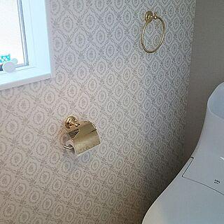 、真鍮のトイレットペーパーホルダーに関するnyan1119さんの実例写真