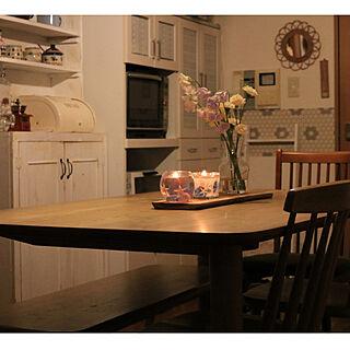 女性44歳の家族暮らし3LDK、手作りキャンドル風に関するmaminさんの実例写真
