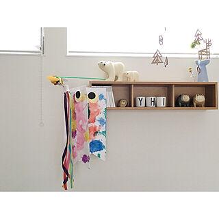 リビング/壁につけられる棚/壁に取り付けれる棚/リサラーソンのブルドッグ/リサラーソン シロクマ...などのインテリア実例 - 2018-05-01 07:56:52