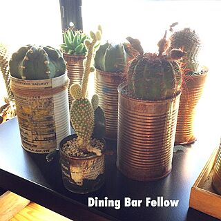 棚/リメ缶/リアル錆び缶/NO GREEN NO LIFE/Dining Bar Fellow...などのインテリア実例 - 2016-04-16 08:04:35