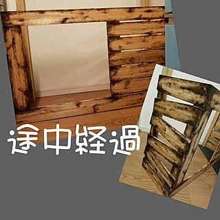 玄関/入り口/木工雑貨/antique/雑貨/植物...などのインテリア実例 - 2017-02-23 00:15:40