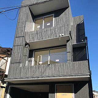 玄関/入り口/外壁/狭小住宅/3階建て/20坪の小さな家...などのインテリア実例 - 2017-11-16 20:43:04