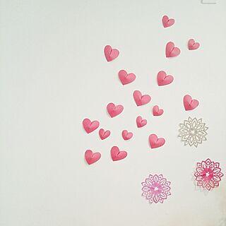 壁/天井/ハート/画用紙/折り紙/バレンタイン...などのインテリア実例 - 2017-02-09 10:13:42