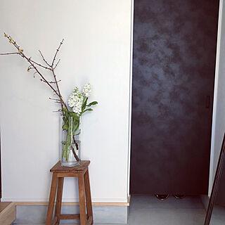 玄関/入り口/グリーンのある暮らし/花のある暮らし/蝋梅/シンプル...などのインテリア実例 - 2019-01-13 15:06:34