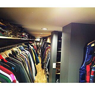 男性家族暮らし、洋服部屋に関するninさんの実例写真