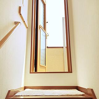 シンプルな暮らし/屋上への階段/壁に付けられる家具/無印良品/部屋全体のインテリア実例 - 2020-06-05 12:54:26