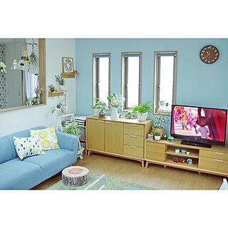 女性38歳の家族暮らし2LDK、無印良品 壁に付けられる家具に関するShooowkoさんの実例写真