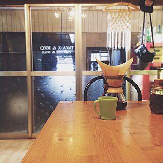 リビング/マクラメ/マクラメ編み/コーヒー/メイソンジャー...などのインテリア実例 - 2015-06-13 08:13:42