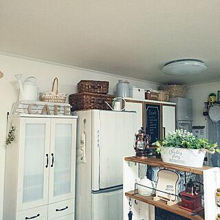 キッチン/狭いスペースを生かしたい/食器棚リメイク/冷蔵庫リメイク/イベント参加中...などのインテリア実例 - 2017-03-16 23:25:57