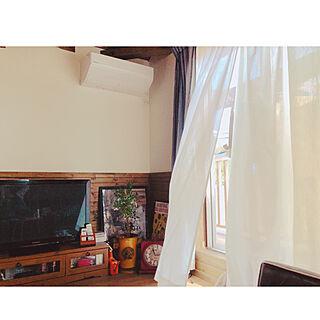 リビング/三角屋根/梁のある家/1.5階/腰壁...などのインテリア実例 - 2018-03-27 15:33:29