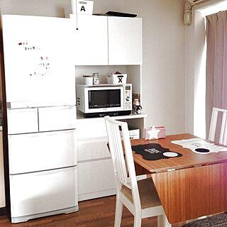 部屋全体/白黒な部屋が見たい/冷蔵庫/IKEA/ダイニングテーブルのインテリア実例 - 2012-12-23 10:33:58
