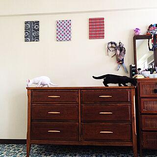 ベッド周り/モロッコラグ/ローチェスト/ねこ部のインテリア実例 - 2015-06-21 11:48:00