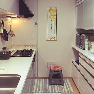 キッチン/初心者です٩(๑>∀<๑)و♡/IKEAの生地/ハンドメイド/カップボード 180㌢のインテリア実例 - 2017-10-24 23:46:37