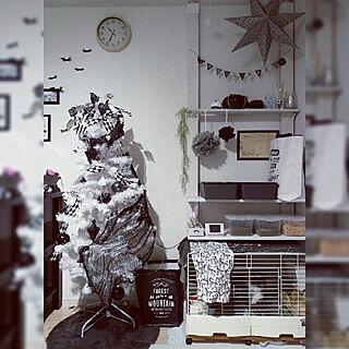 女性3LDK、クリスマスインテリアに関するran3064hさんの実例写真
