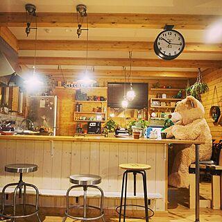男性38歳の家族暮らし、アウトドアカウンターに関するKK.higashiさんの実例写真