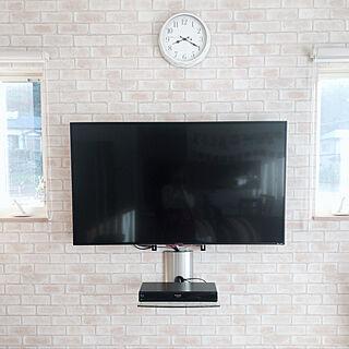 女性30歳の家族暮らし4LDK、55型テレビに関するmayupoさんの実例写真