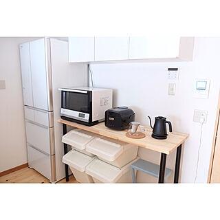 女性同棲2LDK、電気オーブンに関するmikaさんの実例写真
