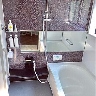 女性36歳の家族暮らし3LDK、お風呂は白‼︎に関するnonp--yさんの実例写真