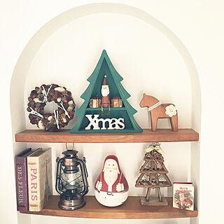 IKEA/おうまさん/木の実のリース/ニッチ/クリスマス...などのインテリア実例 - 2019-11-23 13:31:35