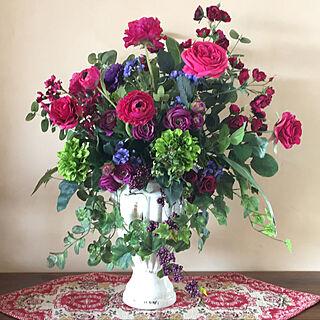 女性家族暮らし4LDK、ニトリ 造花に関するkirara1027さんの実例写真