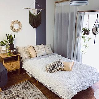 IKEA/IKEA ブランケット/寝具/ワンルーム/boho styleに憧れる...などのインテリア実例 - 2020-08-02 23:39:19