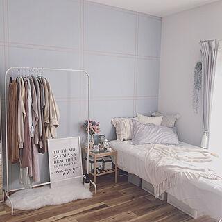 IKEA サイドテーブル/水色の壁/1R/insta→yuccoco_room/ワンルーム...などのインテリア実例 - 2020-07-03 22:34:54