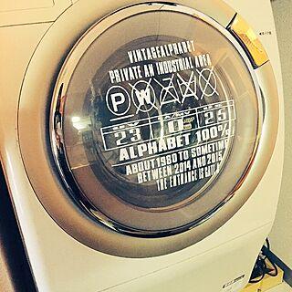 バスサイン風/洗濯機/swaro109 vintage  /一人暮らし/男前...などのインテリア実例 - 2015-07-13 22:27:05