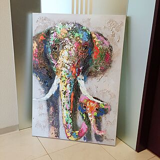 女性家族暮らし、油絵に関するmayuyuさんの実例写真