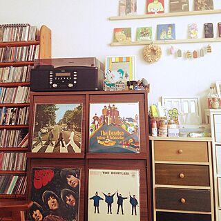 リビング/CDの棚/BEATLES/レコード/琉球ガラスの時計...などのインテリア実例 - 2015-01-25 10:43:43