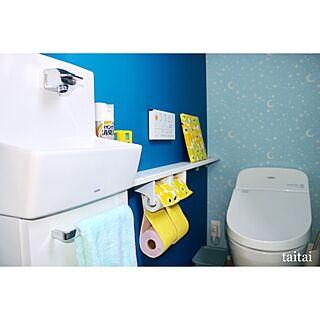 女性の、3LDK、家族住まいの「バス/トイレ」についてのインテリア実例