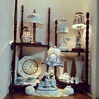 戦利品/リサイクルショップ戦利品/陶器ランプ/ボーンチャイナ/陶器時計...などのインテリア実例 - 2021-07-09 21:27:22