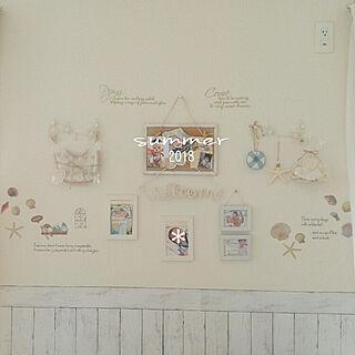 壁/天井/summer/白が好き♡/ナチュラルインテリア/リメイクシート...などのインテリア実例 - 2018-06-26 23:03:40