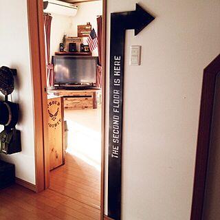 玄関/入り口/手作り/DIY/男前/金具...などのインテリア実例 - 2014-09-22 08:14:36