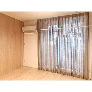 ナチュラル色/リネンのカーテン/シナ合板/アクセントウォール/部屋干しスペース...などのインテリア実例 - 2020-05-02 23:08:24