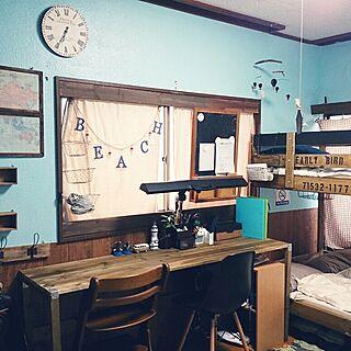 女性38歳の家族暮らし、My Desk we.OTOKOMAE.wantに関するnonさんの実例写真