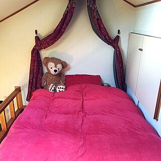 ベッド周り/クラシック/天蓋ベッド/天蓋付きベッドのつもり/ベッドルーム ...などのインテリア実例 - 2015-12-11 13:00:42