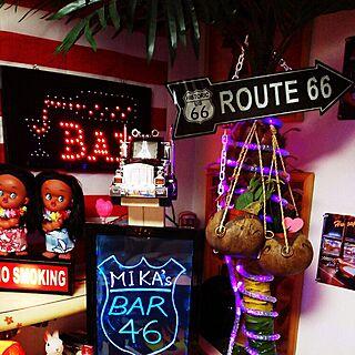 女性48歳の家族暮らし3LDK、ブラックライト,ネオン管,LED,に関するMikaさんの実例写真