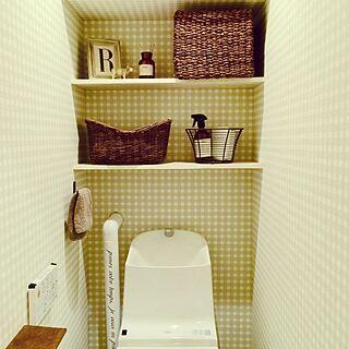 バス/トイレ/海外インテリアに憧れる/フレンチミックス/トイレ/かご...などのインテリア実例 - 2014-09-28 12:24:39