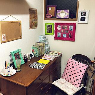 女性家族暮らし、作業スペース(•ө•)♡に関するmiki3gouさんの実例写真