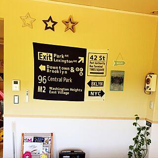 壁/天井/100均/しまむら/星⭐️/ビフォー...などのインテリア実例 - 2017-06-11 13:44:08