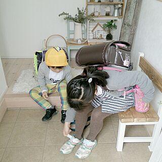 女性家族暮らし4LDK、登校風景に関するcomiriさんの実例写真