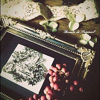 クリスマス?/消しゴムハンコ凄すぎる(。>∀<。)❤︎/雑貨好き/雑貨とアンティーク達を/机...などのインテリア実例 - 2014-09-04 19:49:21