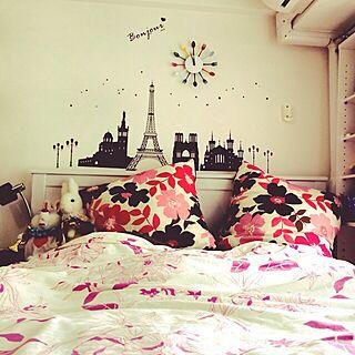 ベッド周り/フランフラン/IKEA/一人暮らし/北欧のインテリア実例 - 2014-04-02 19:28:14